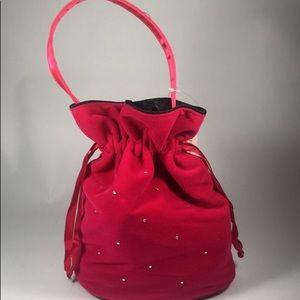 Victoria Secret Velvet drawstring Bag
